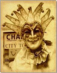 Maschera (70) Tags: sepia mask carnaval jolly carnevale venezia maschera aplusphoto myriam70 alarecherchedutempperdu