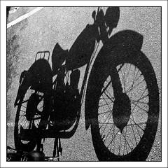 BSA Bantam..27 July 2007 (strussler) Tags: shadow bw english motorcycle ricoh caplio bsa bantam gx