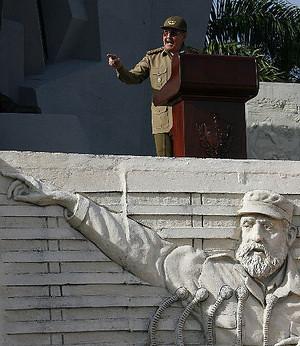 Raul Castro Speech C/O JAVIER GALEANO/AP