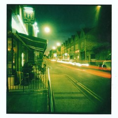 Jericho By Night Holgaroid (Capo2) Tags: polaroid trails oxford jericho holgaroid waltonstreet interestingness108 i500 lochfynerestaurant nightcarslight
