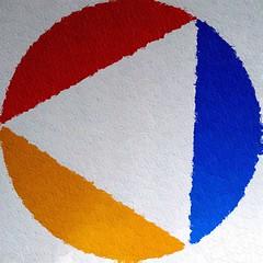 Squaredcirceled triangle (Marco Braun) Tags: blue red white rot yellow jaune germany circle square rouge deutschland triangle colorado sommer urlaub bleu amarillo gelb nrw squaredcircle blau blanche weiss hagen blanc ruhrgebiet nordrheinwestfalen 2007 cercle carr  quadrat kreis triangel dreieck    flavus    ruhrpot 070807