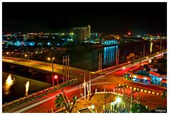 Nightshot of the Iloilo City Harbor area (peterjaena) Tags: macro nikon cityscape nightshot philippines sigma 28 iloilo 1850 d80 aplusphoto