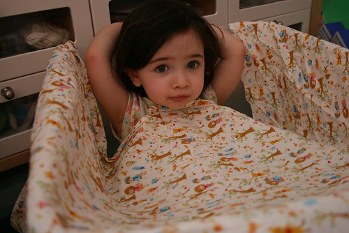 8.30.07 -  Sadie pretending she is in a bubble bath