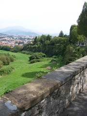 Undergrowth covered defensive walls (Reverend Sam) Tags: italy walls defensive bergamo