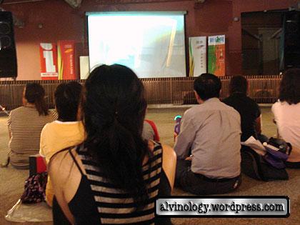 Open air screening at Tampines Mall