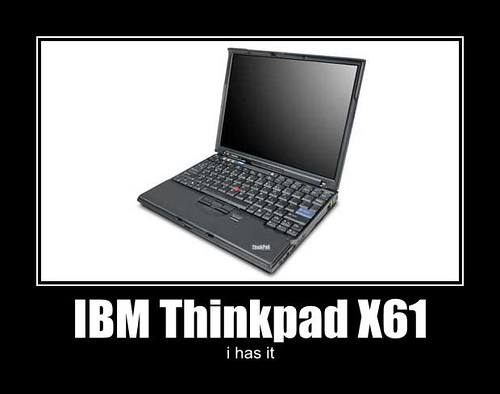 IBM Thinkpad X61 -- i has it