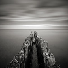 Whitefish Point Groynes: Study II (Jeff Gaydash) Tags: longexposure blackandwhite water square seascapes michigan jetty greatlakes upperpeninsula groyne lakesuperior whitefishpoint lakescapes nd110
