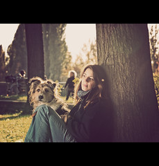 Two Friends (Jack Bloom) Tags: autumn dog fall herbst olympus hund e510 50200swd jackbloom
