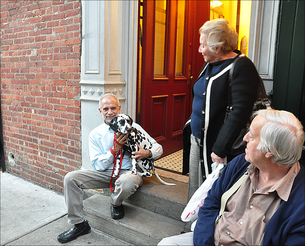 Man with Dalmatian - Greenwich Village 2010