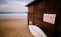 The lifeguard went home... (GabrielFelipe) Tags: israel bet 1224mm yanay d80 nd110