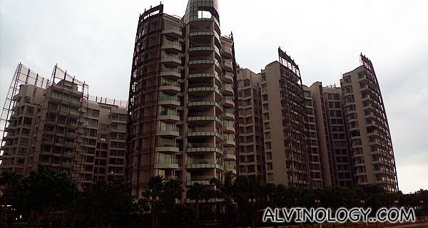 Closer look at the expensive condominium