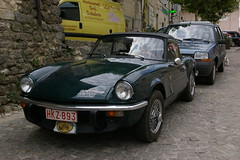 Triumph Spitfire (Nicola_R) Tags: sun holiday france car french break places triumph spitfire visiting touring