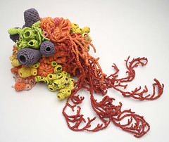 The Retail Reef (gooseflesh) Tags: art retail bag crochet plastic yarn reef