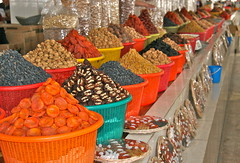 Dried Fruits and Nuts (**El-Len**) Tags: fruit market silkroad bazaar uzbekistan centralasia samarkand gettyimages samarqand fav10 mywinners thegalleryoffinephotography