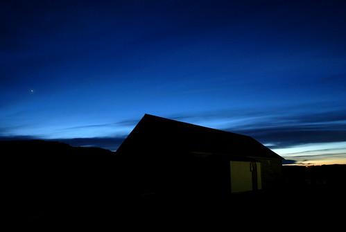 Anochecer en Egilsstaðir