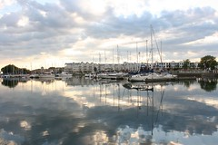 Reflections of Cobourg's Yachts (Roy Reyes) Tags: cloud lake toronto ontario canada reflection slr 20d beach nature clouds digital canon lens landscape ilovenature eos yacht yachts dslr 1740 cobourg naturepix f4l aplusphoto