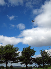 Aircraft flying close to Silverknowes Golf Course, Edinburgh