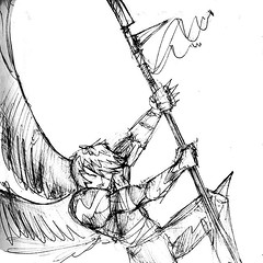 Angel (Jugo de Naranjo) Tags: angel wings drawing alas warrior dibujo spear guerrero lanza