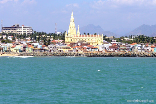 Kanya Kumari seen from Vivekananda Rock