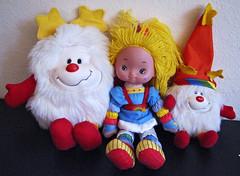 Rainbow Brite & Twink Sprites (sciencensorcery) Tags: toys dolls sprite plush 80s eighties rainbowbrite