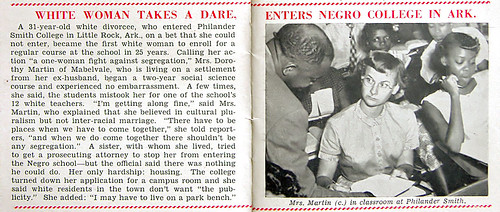 White Woman Enrolls At Negro College, On A Dare In Little Rock - Jet Mag, Oct 1, 1953 por vieilles_annonces.