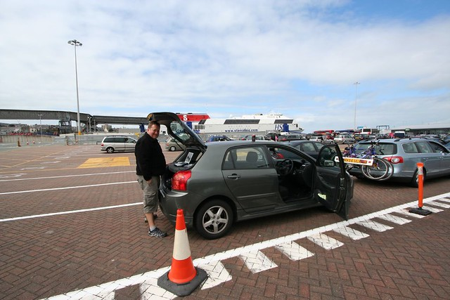 at the ferry port