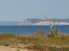 South Manitou Island view of sleeping bear (zoom) from our campsite