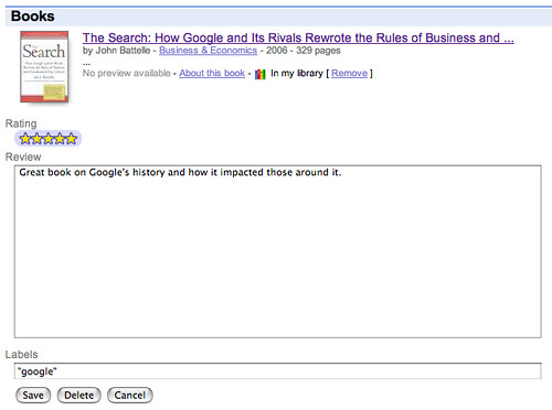 Google Book Search Reviews