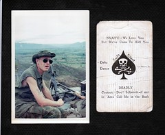 ME AND MY KILL CARD (eks4003) Tags: me usmc cards war kill vietnam marines 1970 nam grunts corpsman killcard