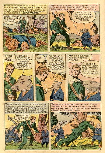 Alarming Tales Harvey Comics comic book scans drawings by Jack Kirby talking cartoon rats and tiger
