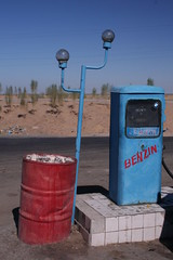 Petrol Sation in the Desert (Alan1954) Tags: colours desert uzbekistan petrolstation bluestblue mywinner