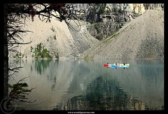 Boating in Colors (Arnold Pouteau's) Tags: canada canoe rockymountains banffnationalpark morainelake