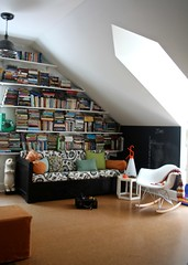 in the playroom (lakbdesign/fergusandme) Tags: color lamp kids children pretty books rocker attic chic renovation eames bookshelves throw midcentury playroom flos designwithinreach grannu eastendimports westelmhextable