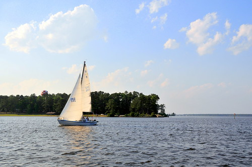 sailing out of New River marina