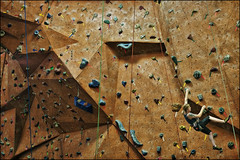 vertical endeavors wall climbing (Dan Anderson.) Tags: minnesota sport rock wall climb exercise stpaul rope climbing bouldering twincities climber harness rockclimbing rappel mn rappelling carabiner belay belaying karabiner chalkbag verticalendeavors