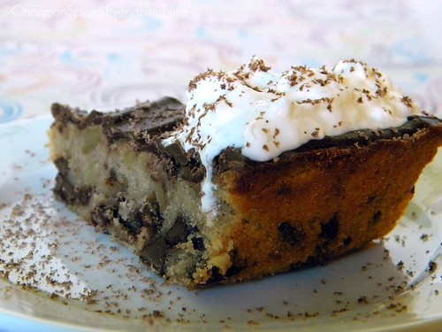 Chocolate Chip Cookie Pie with Walnuts