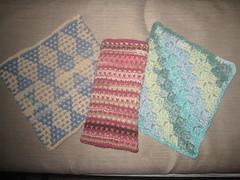 dishcloths (yelutci) Tags: kitchen handmade craft yarn dishcloth cotton