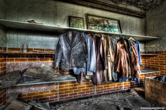 Jackets (Young Crazy Fool) Tags: uk urban abandoned lost decay urbandecay eerie creepy clothes forbidden forgotten urbanexploration westpark 7d 1020mm asylum jackets hdr kleding decayed trespassing engeland urbex verboden vergeten sigma1020mm jassen beautifuldecay gekkenhuis kledij instelling grootbrittani eos7d canoneos7d sigma1020dchsm canon7d urbanexplorationbe westparkasylume