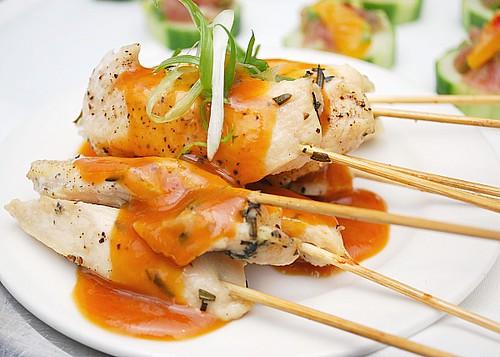 Garlicky Chicken Satays
