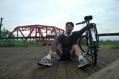 我在西螺大橋邊