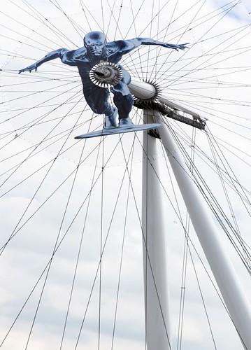 New logo on the London Eye