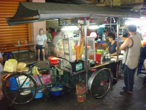 Food stall in Penang's Chinatown...