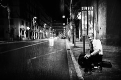 The last passenger (Victoriano) Tags: china city people bw musician music face car festival night lights spain faces cities andalucia busstop iso granada passenger society chinoise fex society1 flogr wearerafa