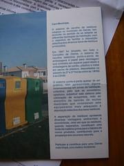 Folheto informativo sobre os ecopontos