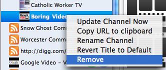Removing boring videos