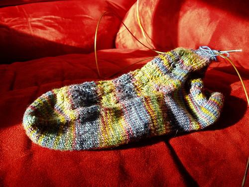 Lacy Rib sock 072407