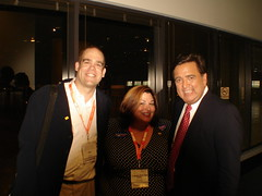 Ken and Cara Valente-Compton with Governor Richardson (Ken Camp) Tags: kos 2007 yearly