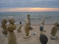 Gaze (farlane) Tags: sculpture art beach rock found sand gallery michigan lakemichigan frankfort benzie frankfortrockgallery
