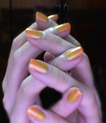 Sunset nailart design. Nail polish gallery.