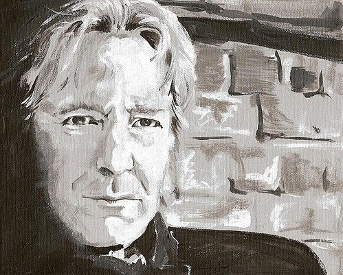 Alan Rickman Black & White portrait